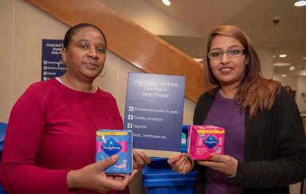 Sanitary Products donation