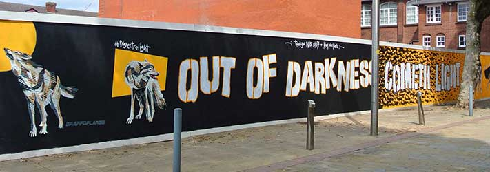 Out of Darkness cometh light grafitti